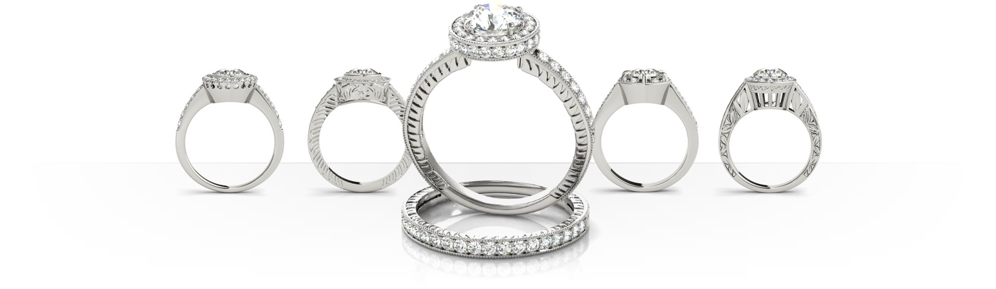 Design your engagement ring online, find your perfect diamond